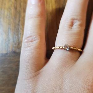 NWOT Dainty Gold Rhinestone Ring